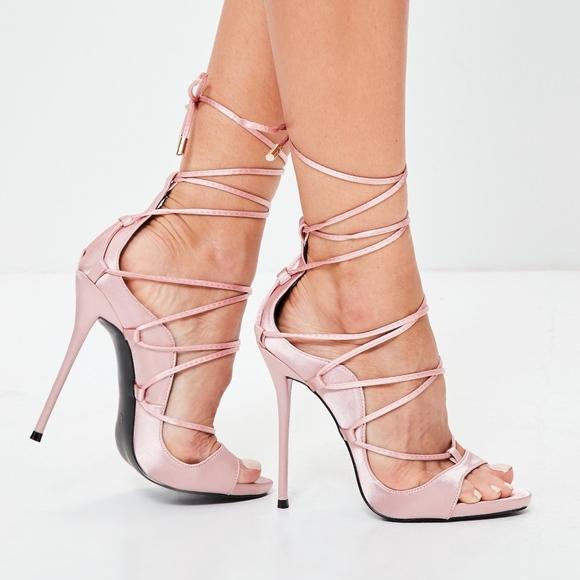 Pink Gladiator Heels